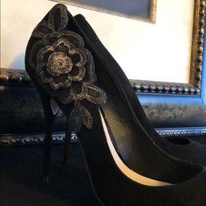 Sophia Webster Black Suede Shoes - Size 9 (39) New